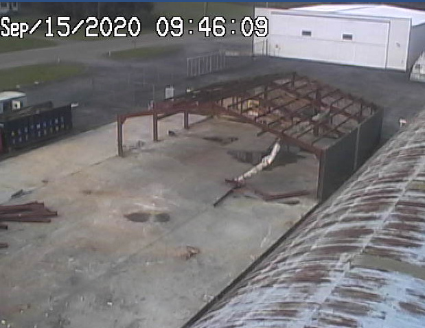 Old Front Hangar Demolition
